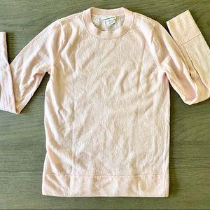 Ballet Pink Merino Wool Crew Neck Sweater Small